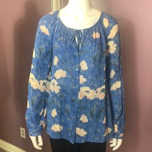 Lucky Brand Light-Weight Floral Print Top